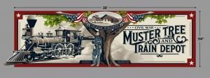 Muster Tree Train Depot Mural